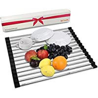 AMUOL Roll Up Dish Drying Rack