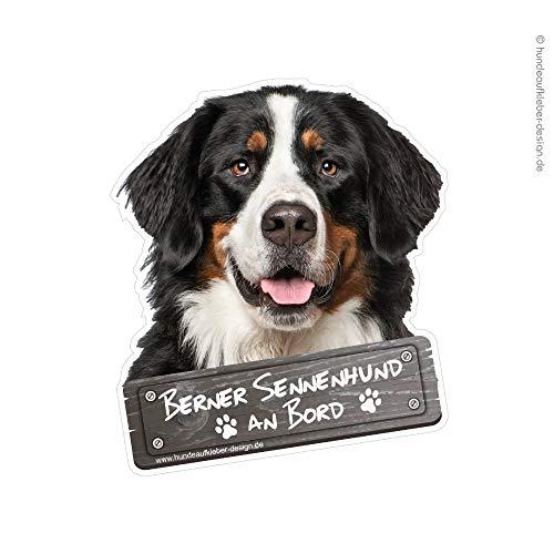 Generisch Berner Sennenhund an Bord Autoaufkleber 10x12cm (BxH) Hundeaufkleber wetterfest UV-beständig Aufkleber