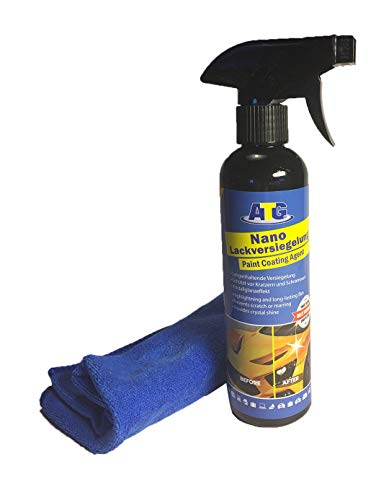ATG Nano-Lackversiegelung 250ml mit Microfasertuch Nanoversiegelung für das Fahrzeug Keramikversiegelung Schutz und Pflege für das gesamte Auto
