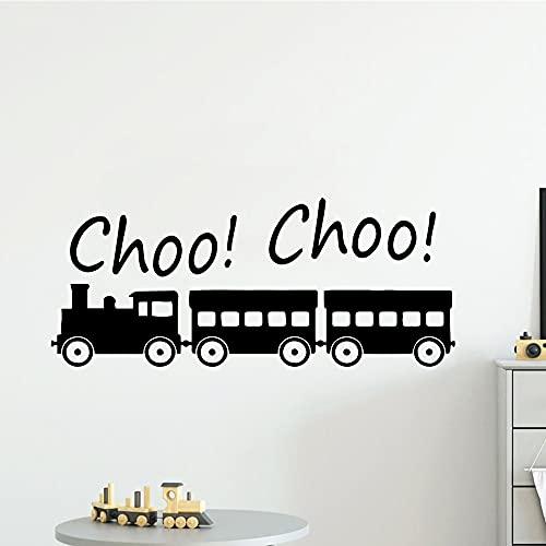 Pegatinas de pared de tren simples personalizadas calcomanías decorativas sala de estar decoración de la pared de la habitación de los niños pegatinas murales A2 43x103cm