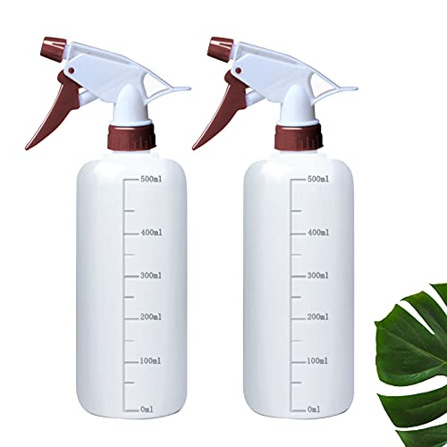 HOSPAOP 2X Botella Rociadora 500ML con Escala Rociador de Bomba Resistente a Productos Químicos Botellas de Plástico en Aerosol Botella Spray para Aceites Agentes de Limpieza Soluciones Salina