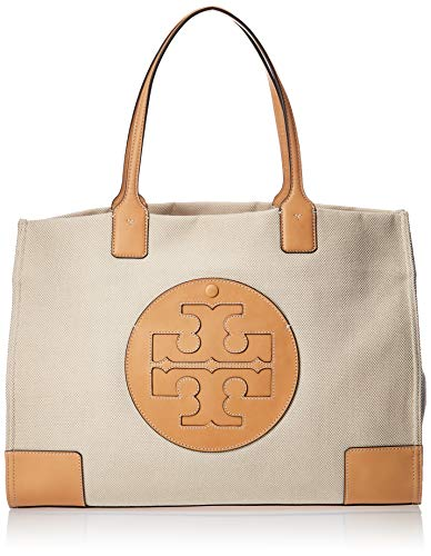 Tory Burch Ella Canvas Tote Natural One Size