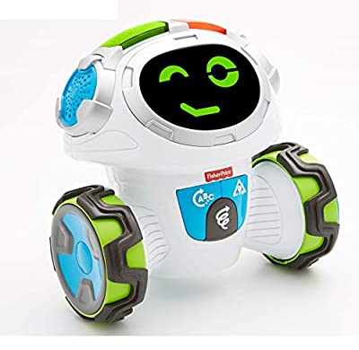 Fisher-Price FKC37 Think and Learn Teach-N-Tag Movi Activity, Mobile Kids Robot Educational Toy with Music and Lights Interactive Games, Suitable for 3 Year