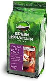 Green Mountain Coffee Roasters Caramel Vanilla Cream, Ground Coffee, Flavored Light Roast, Bagged 12 oz