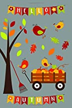 """Autumn Journal Kids: Colorful autumn garden journal for children and adults. 120 pages 6""""x9"""" dot grid."""