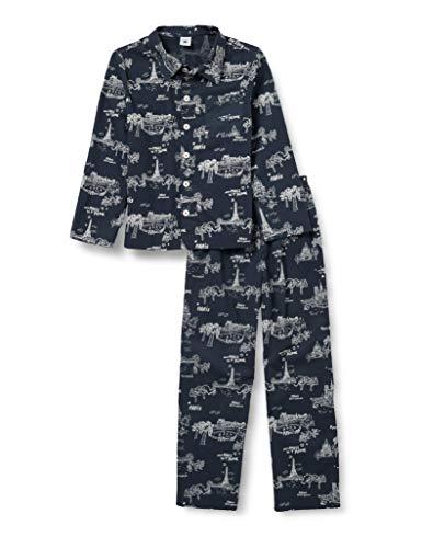 Petit Bateau 5940501 Pajama Set, Medieval/Ecume, 10 Ans Boys