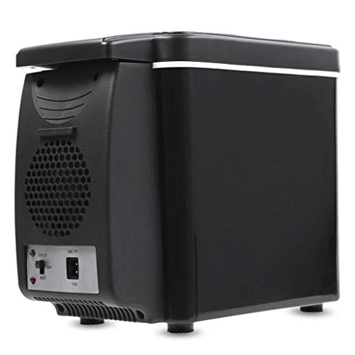Hancoc Congelador De Refrigerador Portátil del Coche 6L, Entradas De Poder De DC 12 / 24V para El Viaje Que Camina Acampar Al Aire Libre