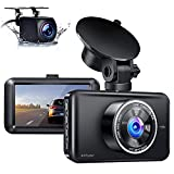 Ainhyzic Dash Cam Front and Rear 1080P FHD Dual Dash Camera for Cars with 3 Inch Screen,170° Wide Angle , Night Vision,WDR,G-Sensor,Parking Monitor,Loop Recording and Motion Detection