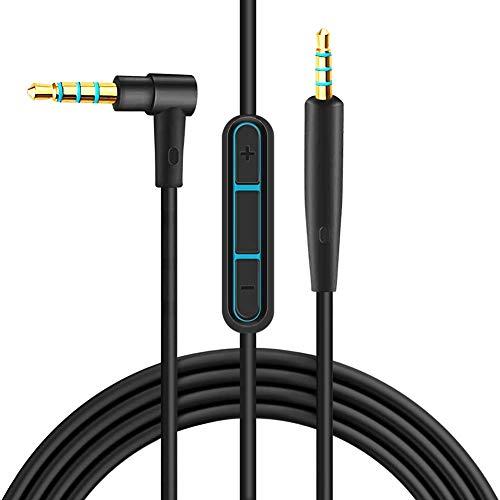 Ersatzkabel für Bose Kopfhörer, QC25 Kabel, Audiokabel Kompatibel mit Bose QuietComfort 25 QC25 QuietComfort 35 QC35 Kopfhörer, Aux Kabel mit Mikrofon/Fernbedienung für iPhone iPad iPod