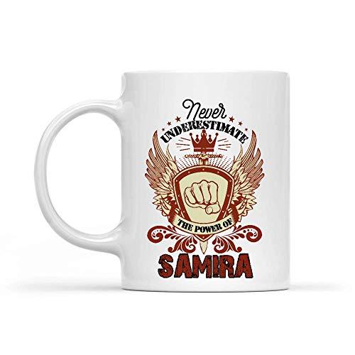 shenhaimojing Tazza da caffè per Ufficio,Tazza da tè Presente,Divertente Tazza Grande,Tazza Ceramica Mai Sottovalutare Il Potere di Samira