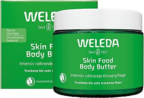 WELEDA Skin Food Body Butter vegane Körperpflege, reichhaltige Naturkosmetik Feuchtigkeitspflege mit Shea- und Kakaobutter für trockene und raue Haut (1 x 150 ml)
