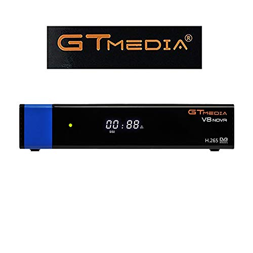 GTMEDIA V8 Nova DVB S2 TV ricevitore satellitare Satellite decoder Support 1080P Full HD PowerVu Biss chiave Newca CCCAM Set-Top Box, con Built-in WiFi - Azul