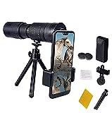 HARTI 4K 10-300 X 40 MM Telescopio, Super Zoom Alcance De Alta Potencia Visión Nocturna Monoculares Militares Impermeables Telescopio para Acampar Viajar,with Tripod