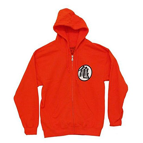Toy Zany Dragon Ball z Kame Symbol Zip-up Sweat-Shirt à Capuche pour Homme - - XL