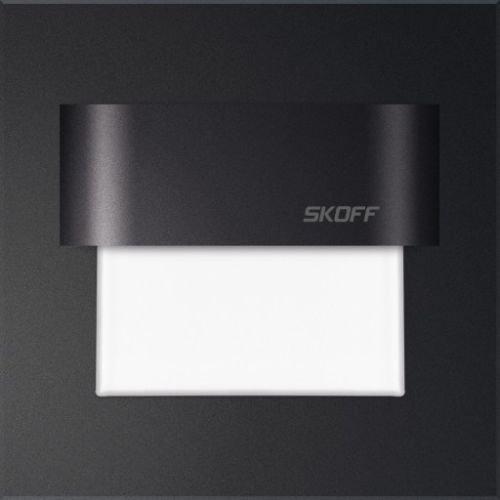 SKOFF Tango Lampe LED encastrable en aluminium Noir/blanc chaud/blanc froid/bleu