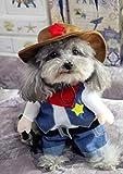 Quhdyddj Ropa para Perros Traje Fresco para Mascotas Traje para Perros Ropa para Cachorros Ropa para Perros Traje de Enfermera Traje para Mascotas, WestCowboy, M
