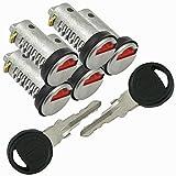 5 cilindros de cilindro con llave, cerradura para caravana, autocaravana, sistema STS y ZADI rojo
