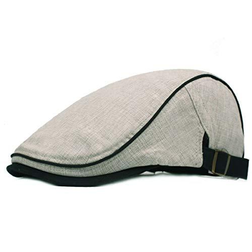 KeepSa - Gorra plana de algodón para hombre, de estilo...
