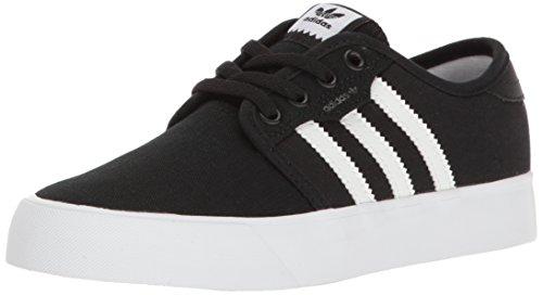 adidas Originals Unisex Seeley Running Shoe, Black White, 3.5 M US Big Kid