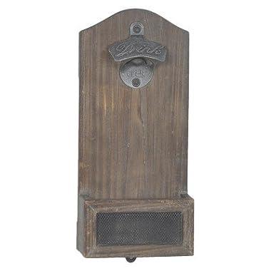 Vintage Mounted Bottle Opener - Wood