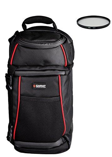 Preisvergleich Produktbild Foto Kamera Tasche Rucksack Sling Carat Set + UV Filter 40, 5mm für Sony Alpha 6000 5000 5100 NEX-7 NEX-5 mit 16-50mm OSS