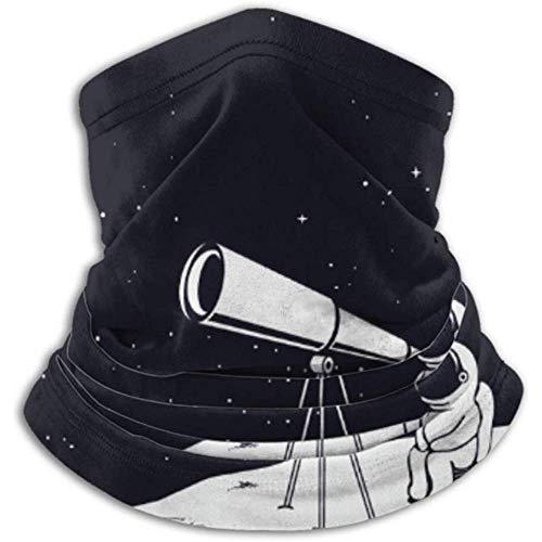 Linger In Calentador de Cuello Astronauta mira a través del Universo del telescopio en Bufanda, Polaina de Cuello, Gorra de Cuello Media máscara pasamontañas