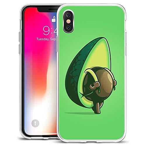 LIUYAWEI Funda de teléfono de Aguacate y Aguacate para iPhone 5 5S 6 6S 7 8 Plus X XS MAX XR 11 Pro12 Funda de teléfono de TPU, LYW 12-para iPhone7 / 8
