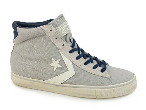 Converse 156799C Pro Leather Vulc Mid Canvas, sneaker unisex, ASH GREY/TURTLE DOVE/NAVY (38.5)