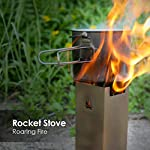 TOMSHOO Camping Rocket Stove Collapsible Wood Burning Stainless Steel Backpacking Camp Tent Stove,Tent Heater