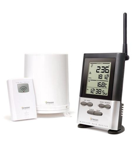 Wireless Rain Gauge w/ Thermometer Computers, Electronics, Office Supplies, Computing
