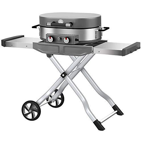 El Fuego Barbecue Tischgasgrill mit 2 Brenner BBQ