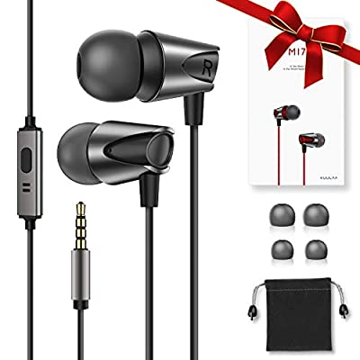 In-Ear Headphone High Definition Noise Isolating Earphones Pure Sound Wired Earbuds with Deep Bass & High Sensitivity Microphone for iPhone, Android Smartphones MP3 Players & all 3.5mm Audio Jack by Kuulaa