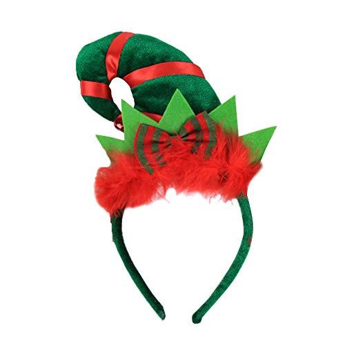 NAttnJf Sombrero de Navidad Día de Fiesta Elfo Diadema