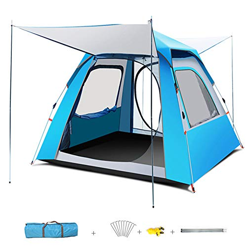 HSART Automatic Pop Up Tent, Outdoor Waterproof Camping Tent, 5-8 Person Festival Tent with Sewn-In Groundsheet UV Protection Lightweight Portable