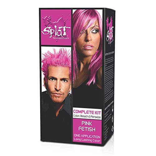 Splat Complete/Semi Permanent Hair Colour Kit Pink Fetish