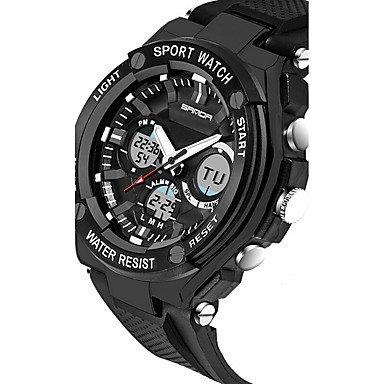XKC-watches herenhorloges, Sanda heer polshorloge smartwatch militair horloge modehorloge digitaal Japans kwarts chronograaf waterdicht LED 's nachts oplichtend