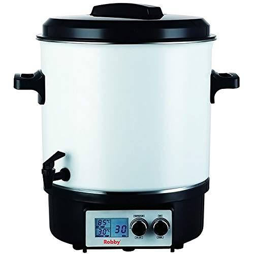 Stérilisateur de bocaux électrique avec écran lcd robinet et minuteur 27l 1800w - Robby - steri pro lcd