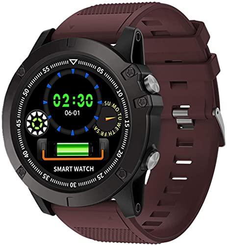 Reloj inteligente para hombre y mujer 1.2 pantalla impermeable podómetro fitness tracker reloj con monitor de ritmo cardíaco, regalo para hombre rojo