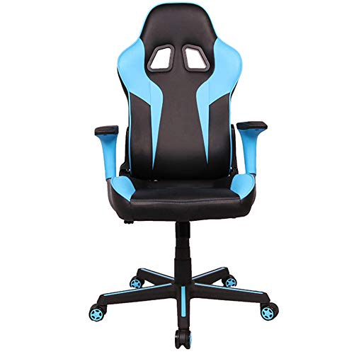 ZXCVB Game Chair, Office Computer Chair,Reclining Computer Chair High Backrest, Suitable For Human Body Design,Both Adults and Children Can Use It,Blue