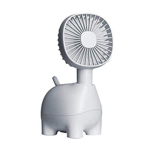 RONGXUE USB-ventilator, draagbare stille koeling miniventilator inbouw-1400 mAh batterij reis-hoofd schudden slaapkamer
