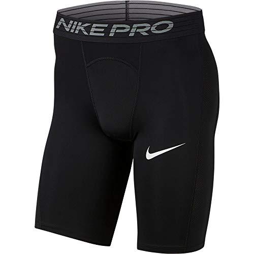 NIKE M NP Short Long Pantalones Cortos de Deporte, Hombre, Black/(White), L