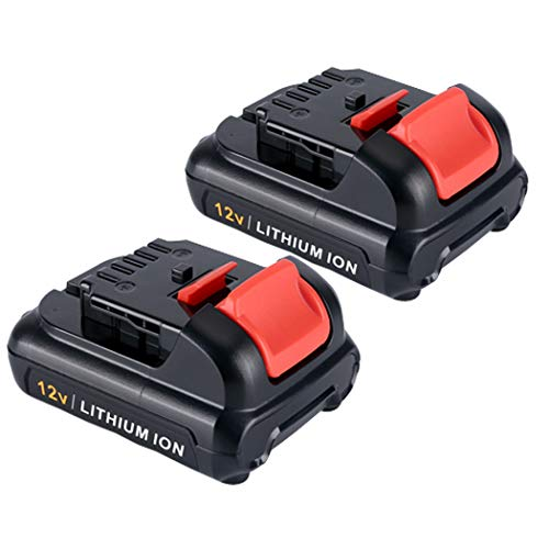2Pack 3.0Ah 12V DCB120 Lithium Ion Replacement Battery for Dewalt 12V Max DCB123 DCB127 Cordless Power Tools