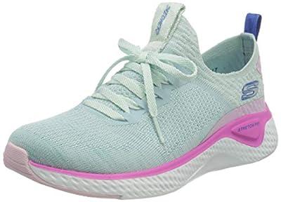 Skechers Women's Solar Fuse Sneaker, Light Blue/Multi, 11 M US