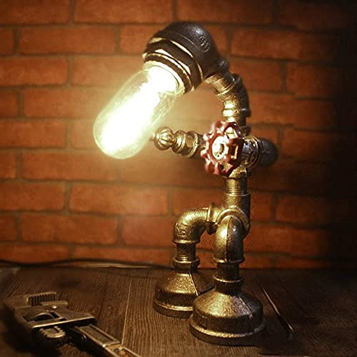 Rnwen Dormitorio de Estilo Retro Industrial con LED, Sala de Estar, Dormitorio para ni?os, lámpara de cabecera enchufable, hogar para Bodas (Color:Multicolor) (Color : Multi-Colored)