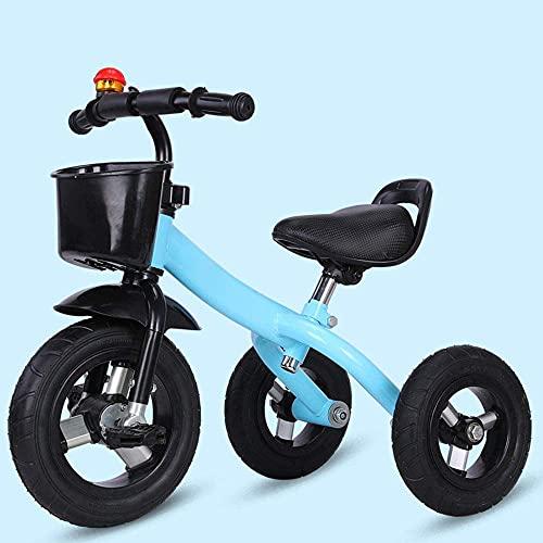 GPWDSN Triciclo Ligero Bicicleta de Entrenamiento Triciclo, Triciclo de Ciclismo para niños, Coches de Pedales para niños Cochecito de bebé Ligero Triciclo de Pedales Antideslizante, Rueda Libre de