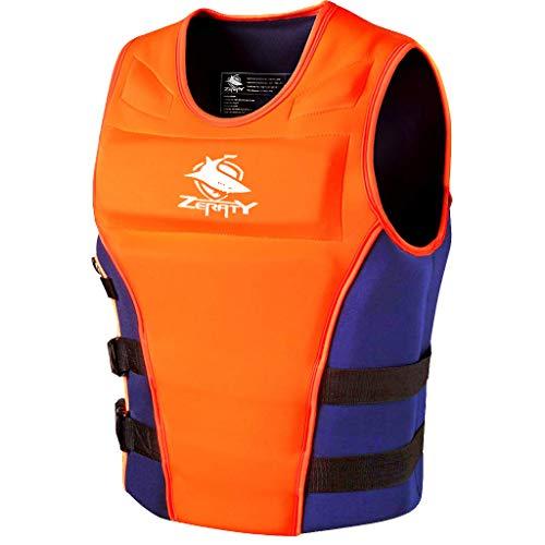 Zeraty Unisex Feststoff Schwimmweste CE ISO 12402-5-zertifiziert für Erwachsener|50N|Orange