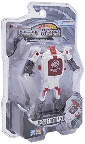 Robot Watch Relógio + Robô Sortido Alimentação por 1 Bateria AG13 Indicado para +4 Anos Multikids - BR498