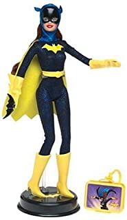 "Barbie as Batgirl: 11.5"" Collectible Doll with Stand and Character Logo from DC Comics Super Friends"