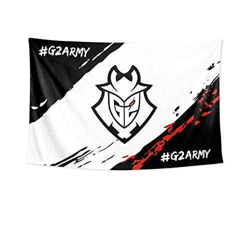 YAOUFBZ G2 Esports E-Sport Team Perkz Fan Caps Cheers Surro&ing Flagge Hintergr& Stoff Poster Hängende Stoffmalerei