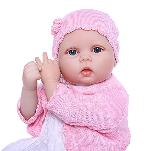 ZIYIUI Bebe Reborn Niña Realista Muñeca Reborn Baby Dolls Silicona Recién Nacido 22 Pulgadas Niños Juguete Regalo